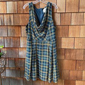 Like New ModCloth Sleeveless Plaid Dress - 1X